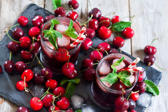 Cherry Juice Royaltyfria Foton