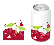 Cherry juice can Stock Images