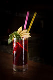 Cherry juice cocktail Royalty Free Stock Photography