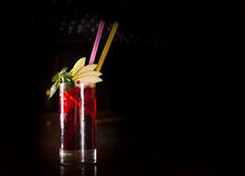 Cherry juice cocktail Royalty Free Stock Photo