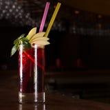 Cherry juice cocktail Stock Image