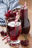 Cherry juice drink Stock Image