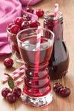 Cherry juice drink Stock Photos