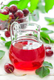 Cherry juice Royalty Free Stock Image