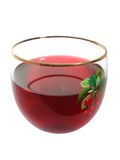 Cherry juice in the glass Stock Photography