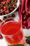 Cherry juice Stock Photos