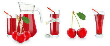 Cherry juice and meter Stock Photography