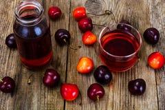 Cherry Juice Studio Photo Imagen de archivo libre de regalías