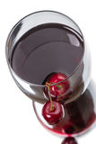 Cherry juice top view Stock Photo