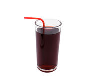 Cherry juice on white Stock Photography