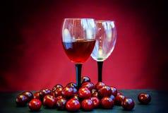Cherry  juice, wine or liquor concept. Royalty Free Stock Photography