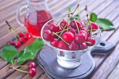 Cherry and juice Stock Photography