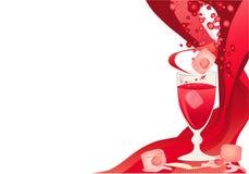cherry karty drinka lodu royalty ilustracja