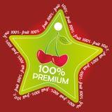 Cherry label Stock Image