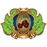 Cherry label background Royalty Free Stock Photo