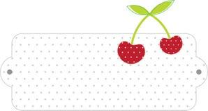 Cherry Label in bianco Immagini Stock