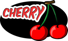 Cherry label Royalty Free Stock Photos