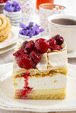 Cherry layer cake. Party dessert Royalty Free Stock Photos