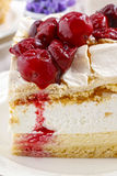 Cherry layer cake. Party dessert Stock Image