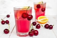 Cherry lemonade Stock Images