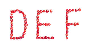 Cherry letters Stock Photography