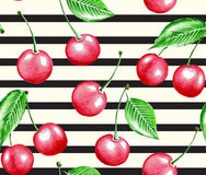 Cherry and line Royalty Free Stock Image