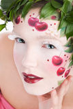 Cherry lips Royalty Free Stock Photos