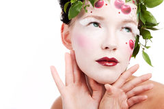 Cherry lips Stock Photography
