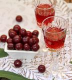 Cherry liqueur Royalty Free Stock Photography