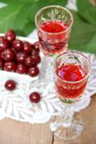 Cherry liqueur Stock Photography