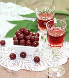 Cherry liqueur Stock Photo