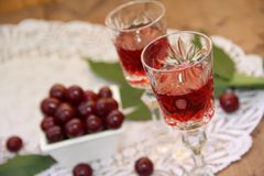 Cherry liqueur Stock Image