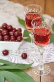 Cherry liqueur Royalty Free Stock Photo