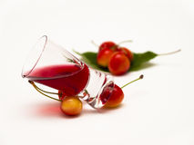 Cherry liqueur Stock Photo