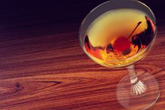 Cherry in liquor Royalty Free Stock Photography