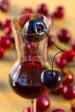 Cherry liquor Stock Photography