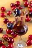 Cherry liquor Royalty Free Stock Images