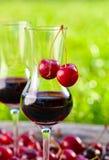 Cherry liquor Stock Image