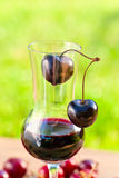 Cherry liquor Stock Image