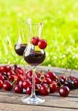 Cherry liquor Royalty Free Stock Photo