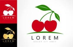 Cherry logo vector. Logo design vector illustration vector illustration