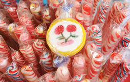 Cherry lollipop Royalty Free Stock Photo