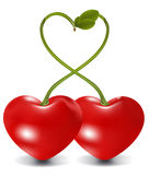 Cherry love Royalty Free Stock Photography