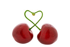 Cherry in Love Royalty Free Stock Images