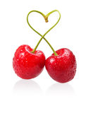 Cherry love sign Royalty Free Stock Image