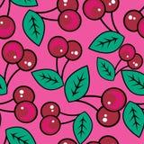 Cherry mönsan seamless Arkivbilder