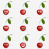 Cherry with many expressions Royalty Free Stock Photography