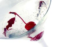 Cherry martini. Close up and isolated cherry martini stock photos