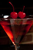 Cherry martini Royalty Free Stock Images