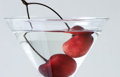 Cherry and Martini Stock Photography